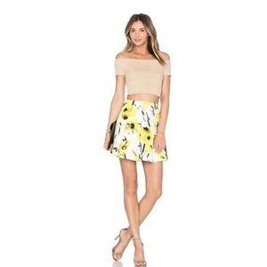 Alice + Olivia Connor Daisy Field Mini Skirt